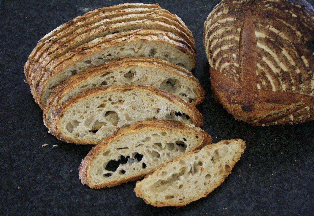 Doorsnede van het gebakken brood